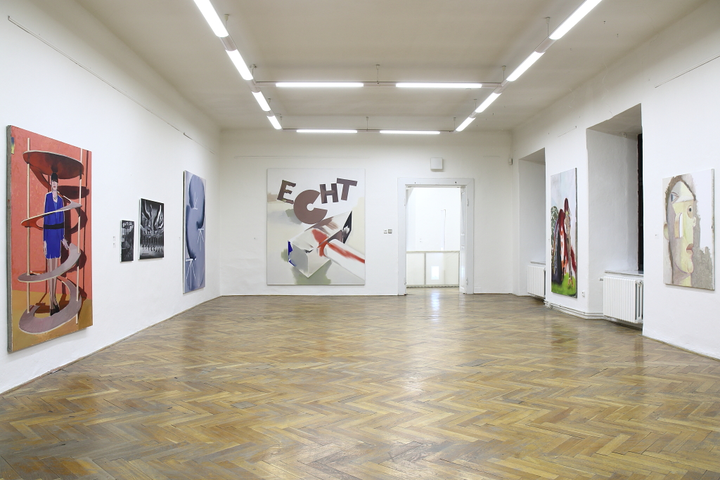 view into the exposition, curator Petr Vaňous